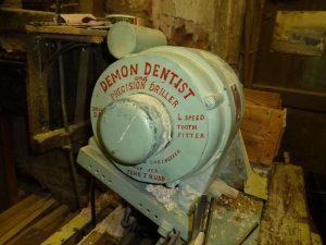 Close up of the 'Demon Dentist' machine
